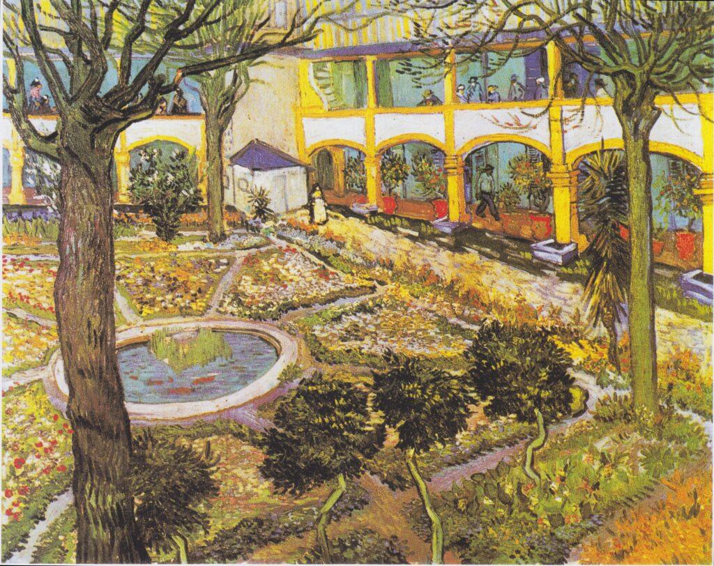 Giardino dell'ospedale di Arles Van Gogh