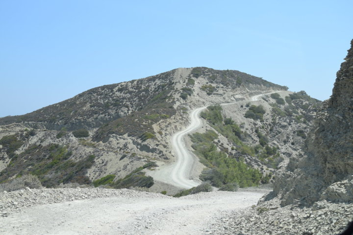 la strada per Nati Beach